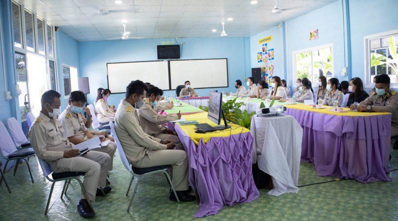 รับฟังนโยบายการเตรียมความพร้อมในการจัดการเรียนการสอนในภาคเรียนที่ 2/2564 และนิเทศติดตาม การดำเนินงาน มอบนโยบาย กศน.อำเภอ